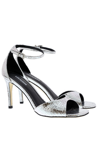 Lola Cruz Lola Cruz sandalen 029Z46BK zilver