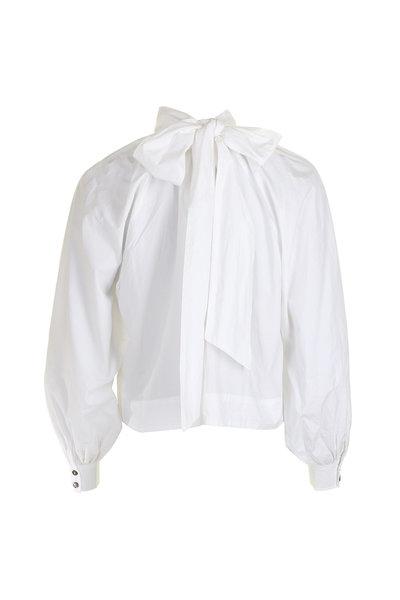 Ganni Ganni blouse F4040 wit