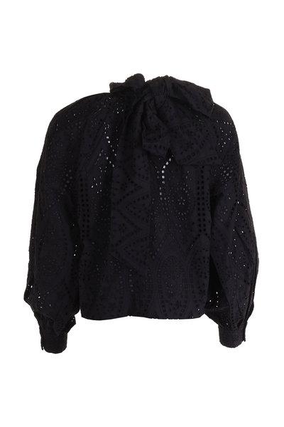 Ganni Ganni blouse F3941 zwart