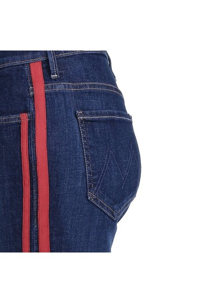 Mother Mother jeans Insider Crop Step blauw