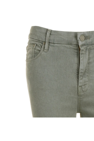 Mother Mother jeans The High Waisted Looker Ankle Fray groen