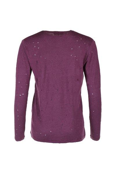 IRO IRO t-shirt Marvina bordo rood
