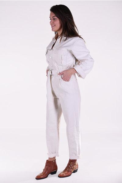 Agolde Agolde jumpsuit Tatum All in one beige