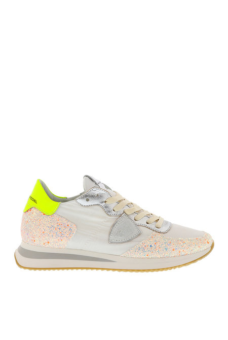 Philippe Model sneakers Tropez mondial glitter wit