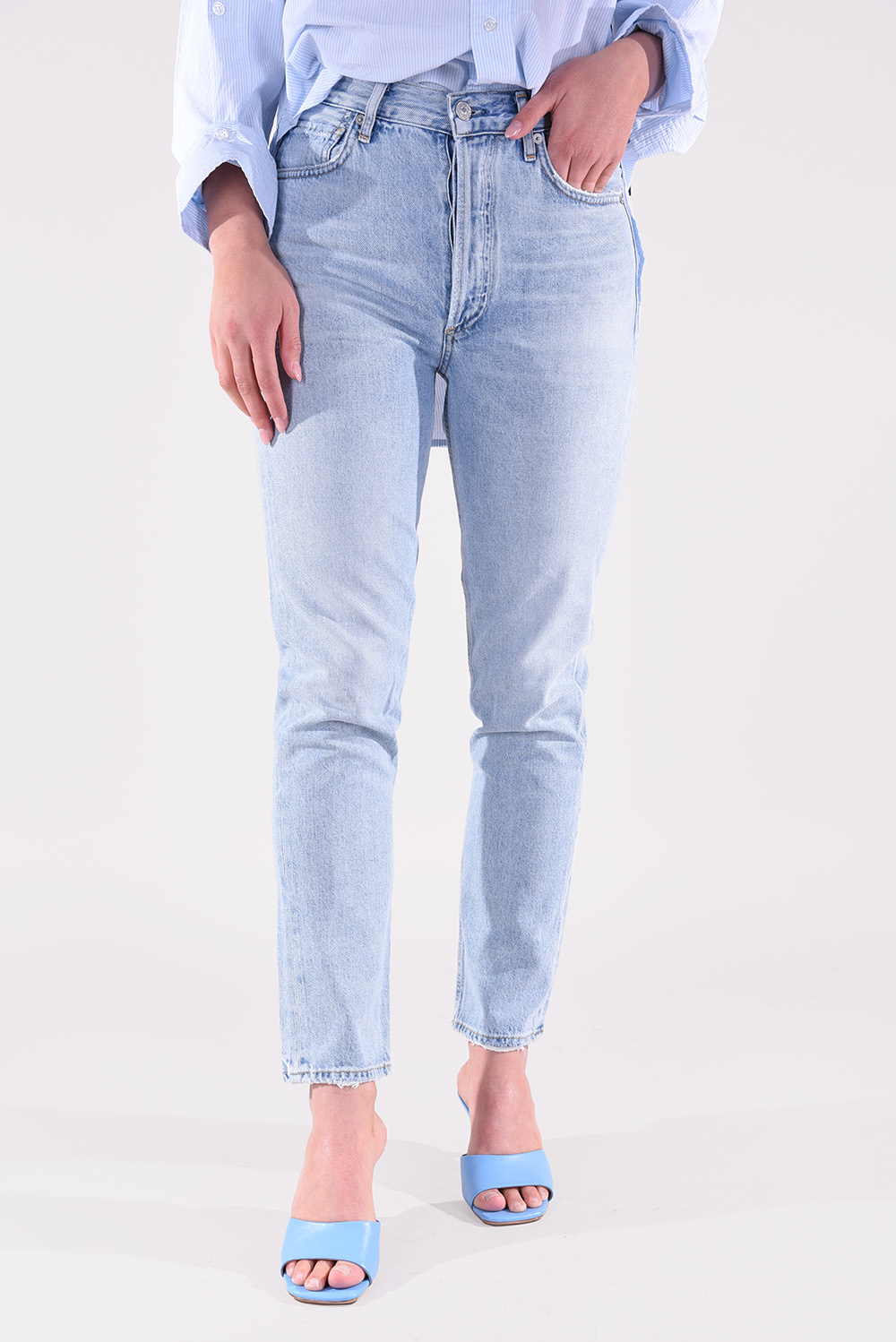 Citizens of Humanity jeansbroek Charlotte high rise straight 1731B-9830 blauw