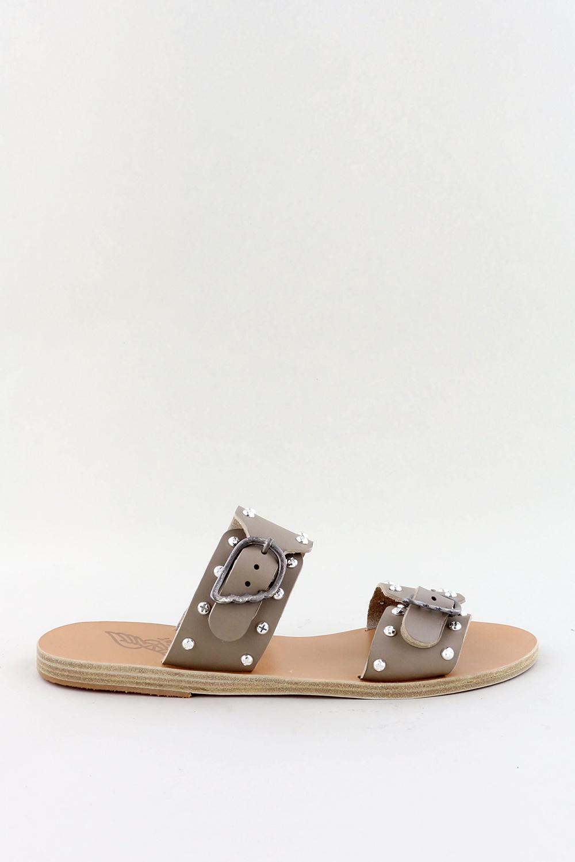 Ancient Greek Sandals slippers Messina Rivets grijs