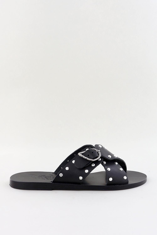 Ancient Greek Sandals sandalen Pella Rivets zwart