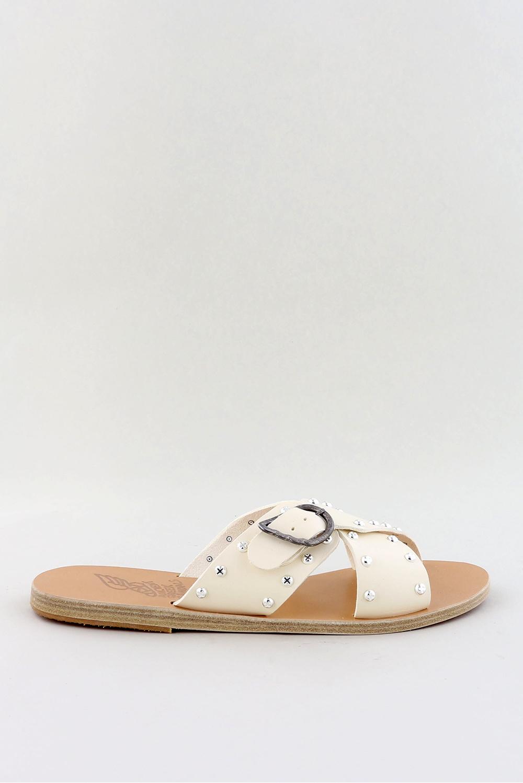 Ancient Greek Sandals sandalen Pella Rivets crème