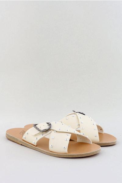 Ancient Greek Sandals Ancient Greek sandalen Pella Rivets crème