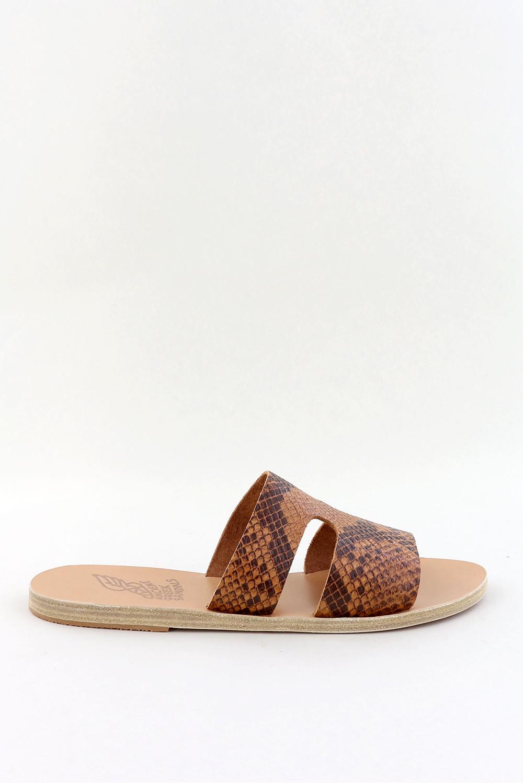 Ancient Greek Sandals slippers Apteros cognac