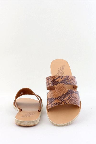 Ancient Greek Sandals Ancient Greek slippers Apteros cognac