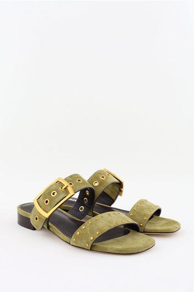 Lola Cruz Lola Cruz slippers 123Z30BK groen