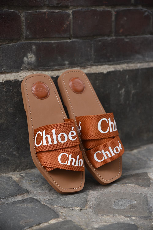 Chloe slippers Woody C19U18808248 cognac