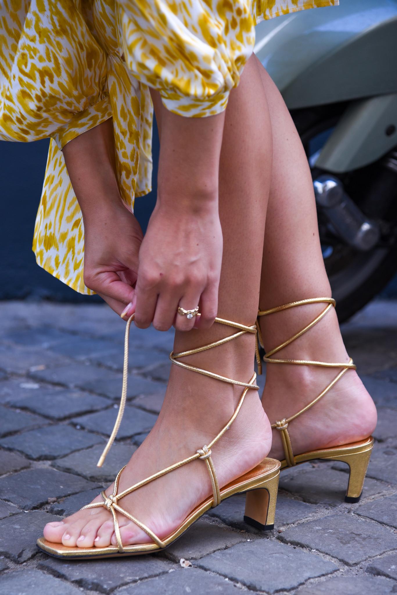 Anine Bing sandalen Graham A-14-4104-920 goud