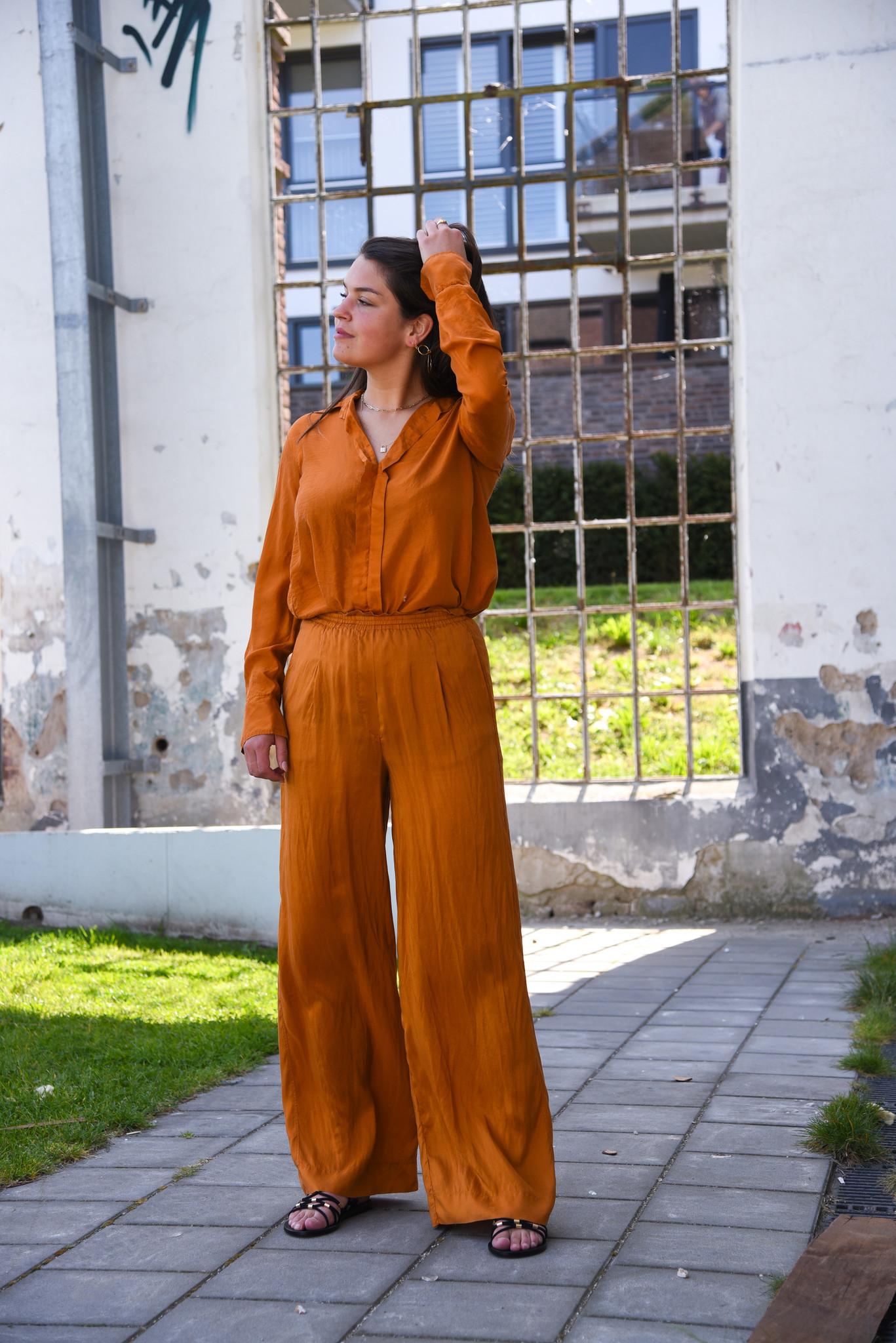 Forte_Forte blouse 7281 cognac