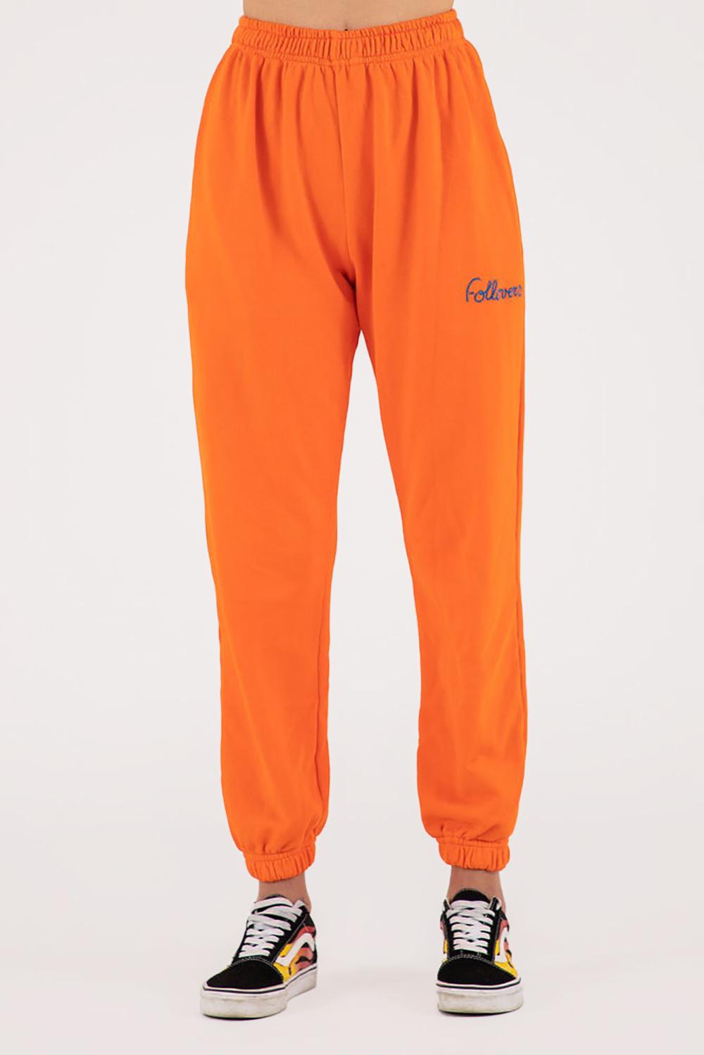 Follovers broek Kim oranje