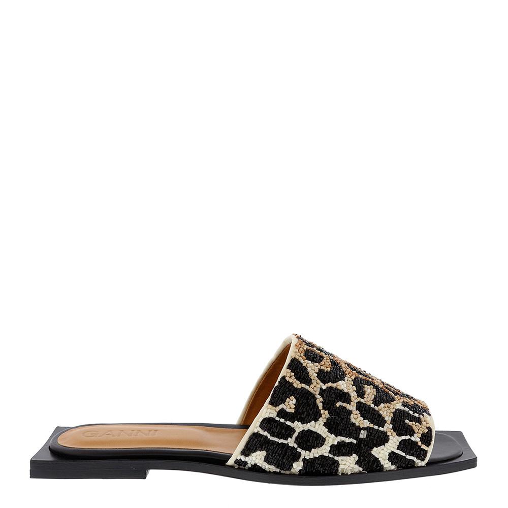 Ganni slippers S1193 dierenprint