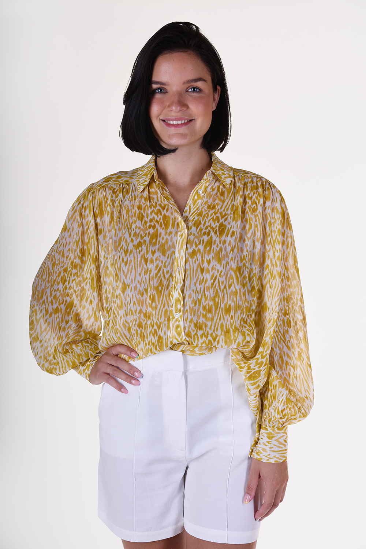 Anine Bing blouse A 07 3053 122 multicolour geel
