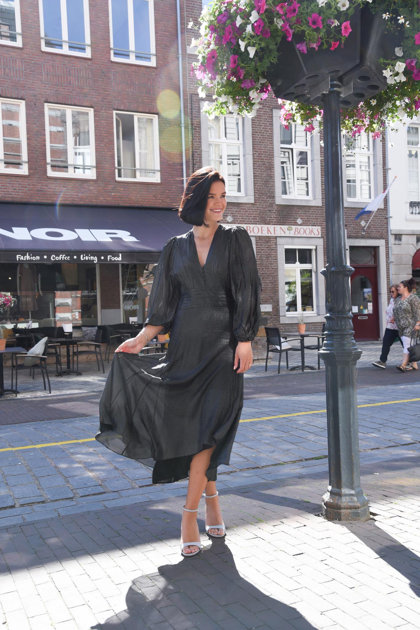 IRO jurk Jocque WM33JOCQUE zwart