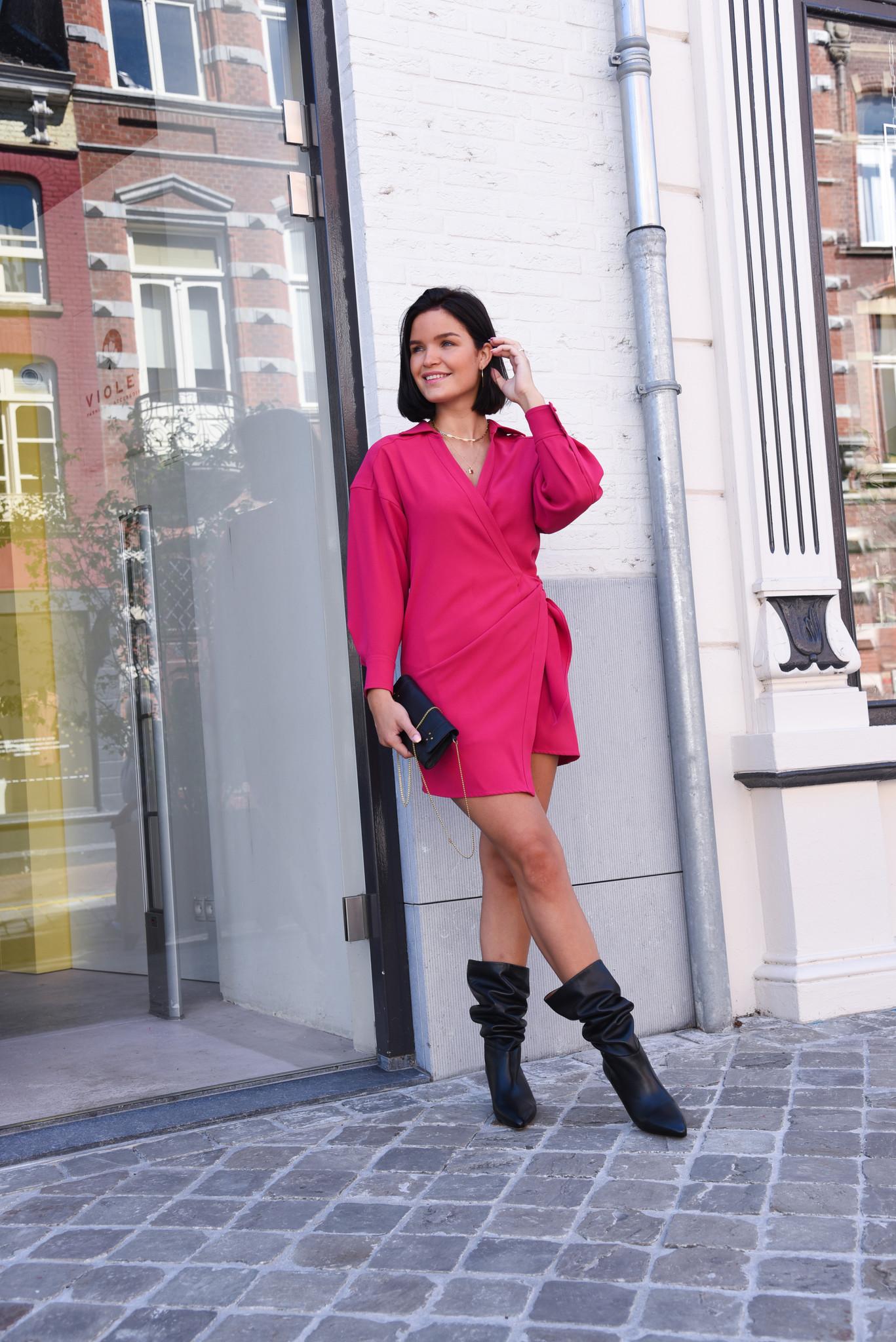 IRO jurk Musea WP33MUSEA roze