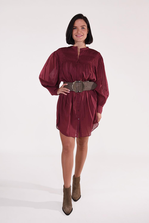 Isabel Marant jurk Plana RO1752-20A052E rood