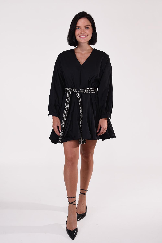 Anine Bing jurk Peyton A-02-1121-000 zwart