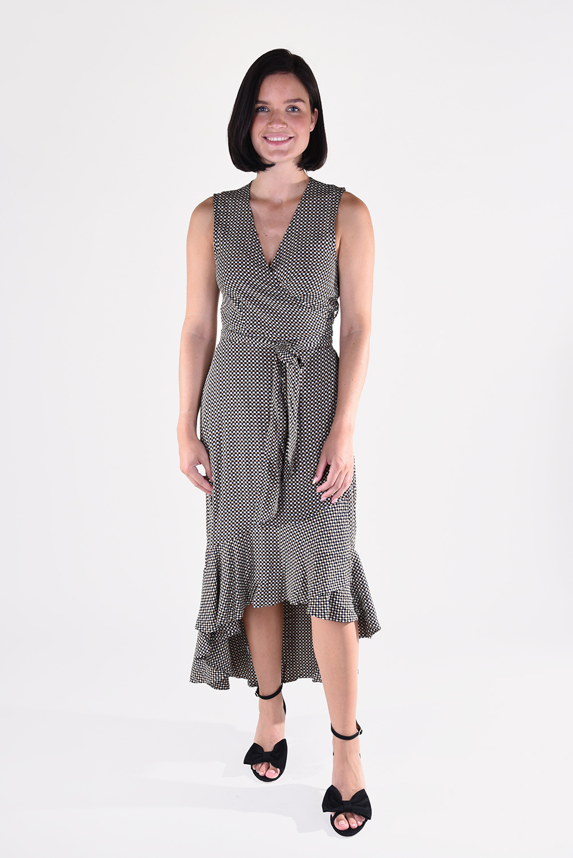 Ganni jurk F4915 bruin