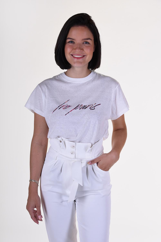 IRO t-shirt Lyka WP19LYKA wit