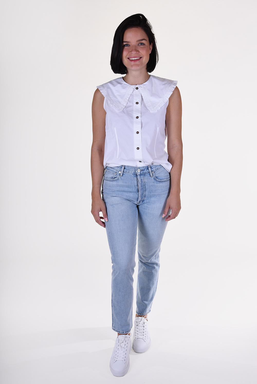 Ganni blouse F4715 wit