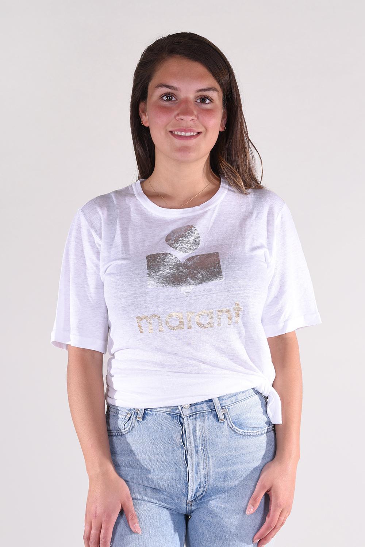 Isabel Marant t-shirt Kuta TS0382-00M008E wit