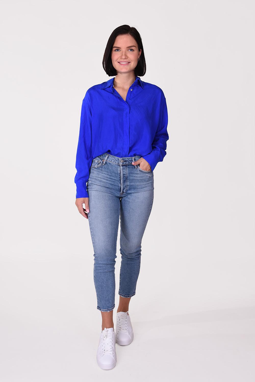 Forte_Forte blouse 7576 blauw