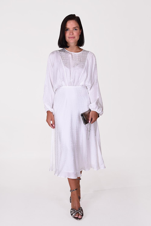 Anine Bing jurk Serana Dress A-02-1146-100 wit