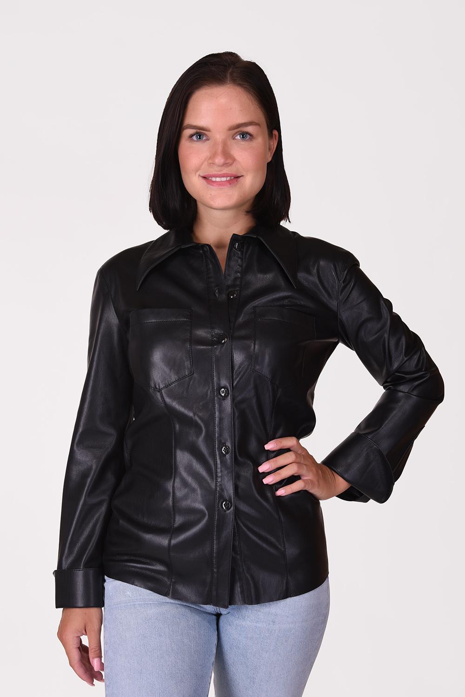 Nanushka blouse Tippi NW20PFSH00999 zwart