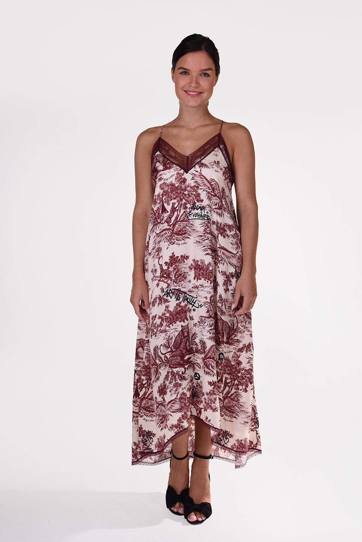 Zadig & Voltaire jurk WJCD0401F Risty multicolour