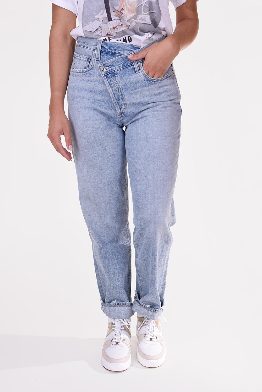 Agolde jeans Criss Cross A097 983 blauw