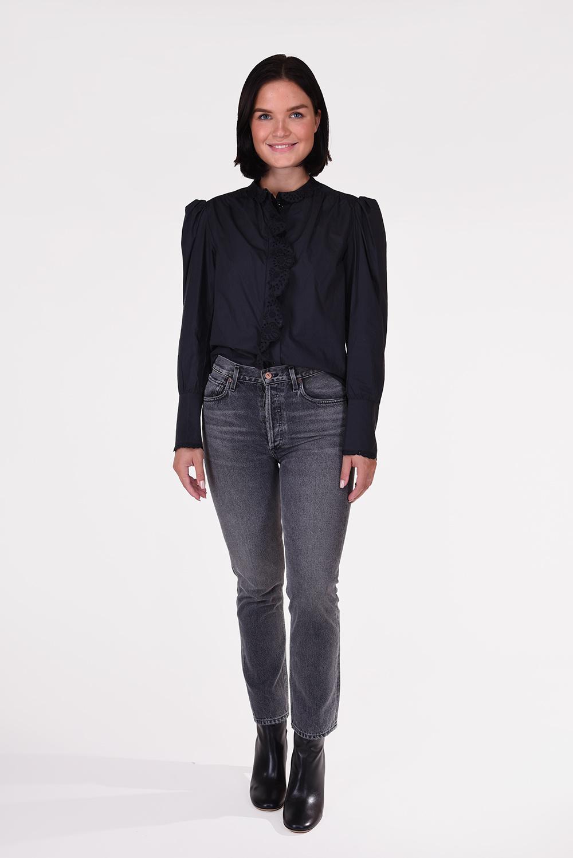 Isabel Marant blouse Orlana BS0039-20A069E zwart