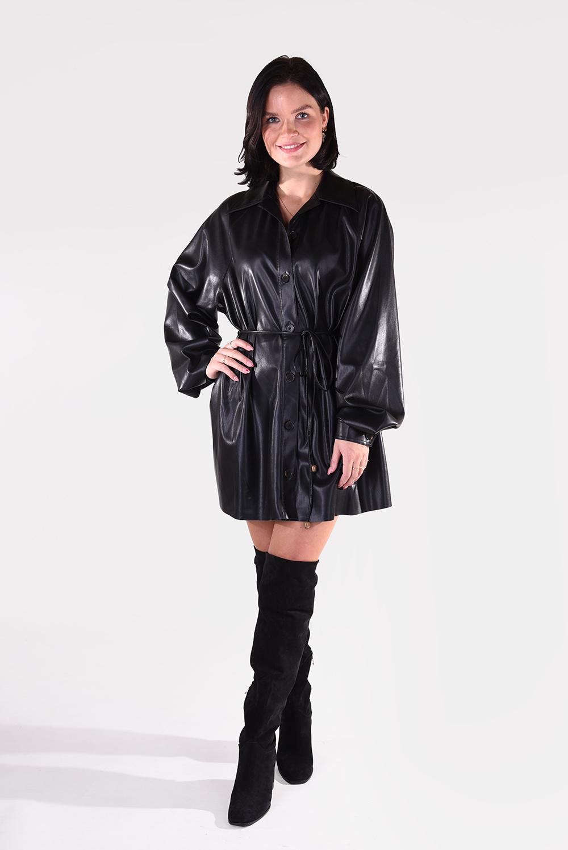Nanushka jurk Joy NW20FWDR04699 zwart