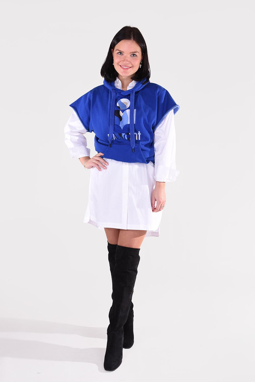 Isabel Marant trui Milesy SW0044-21P039E felblauw