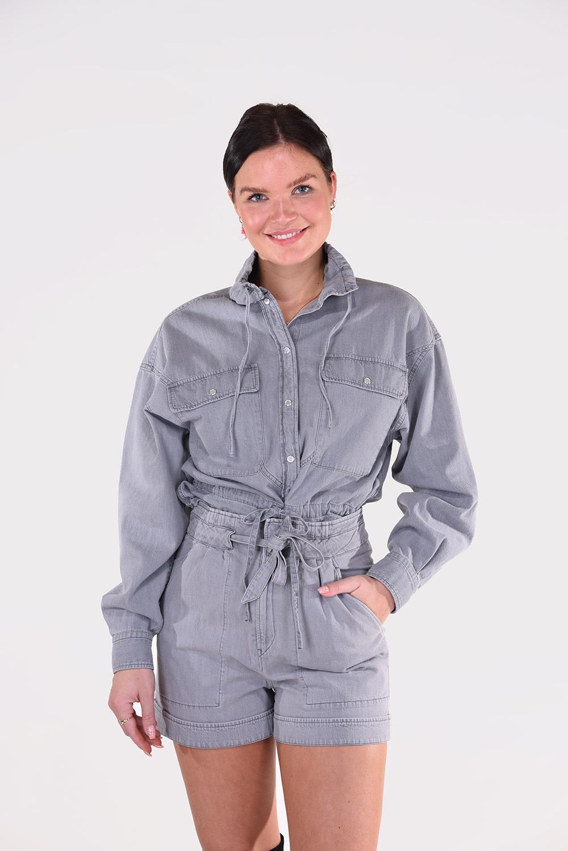 Isabel Marant blouse Madras CH0735 21P023E grijs