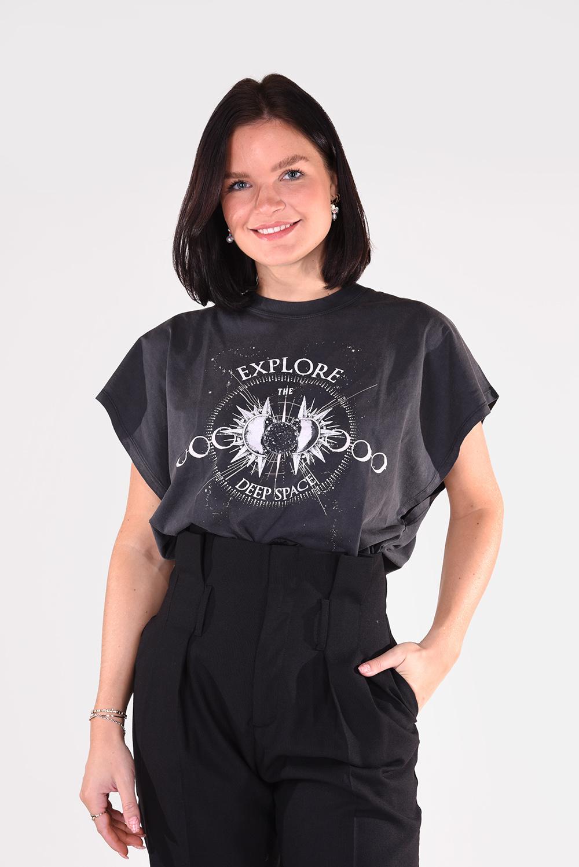 IRO t-shirt Explor WP21EXPLOR zwart