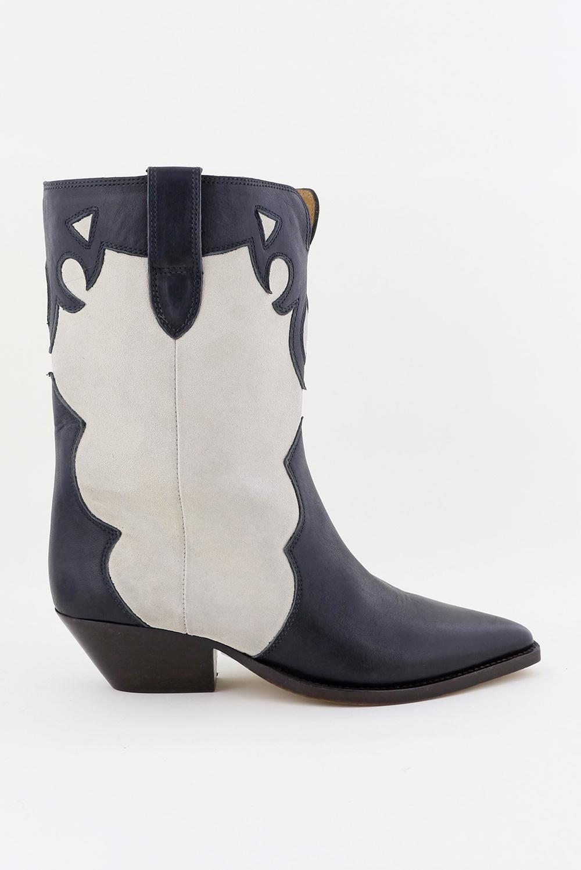 Isabel Marant laarzen Duoni BO0635-21P011S zwart/wit