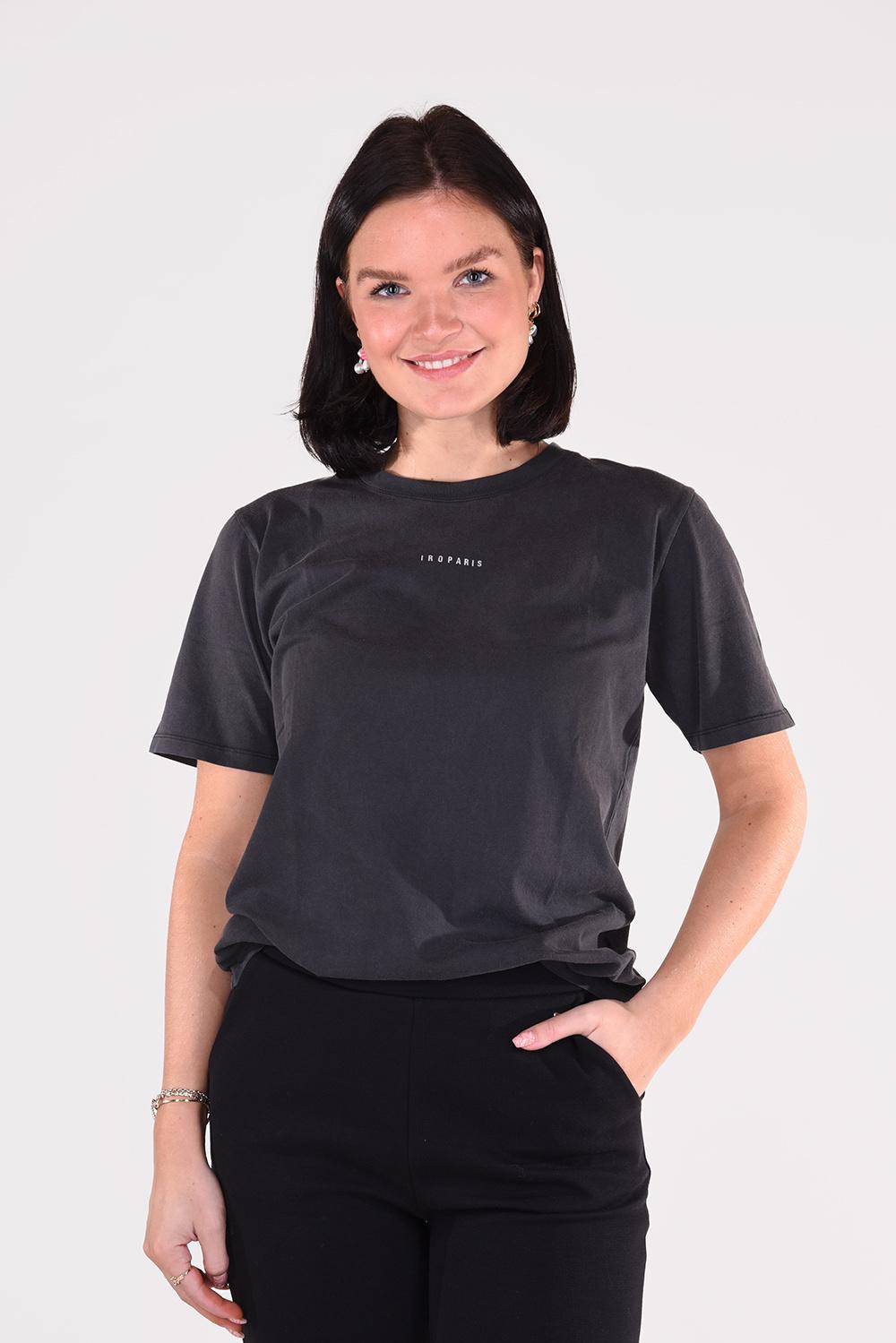 IRO t-shirt Perry WP19PERRY zwart
