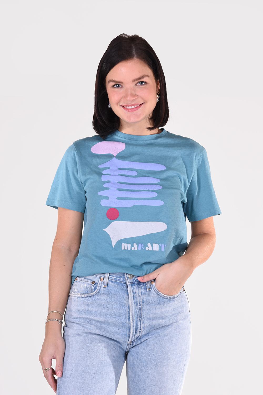 Isabel Marant t-shirt Zewel TS0406-21P042E groen