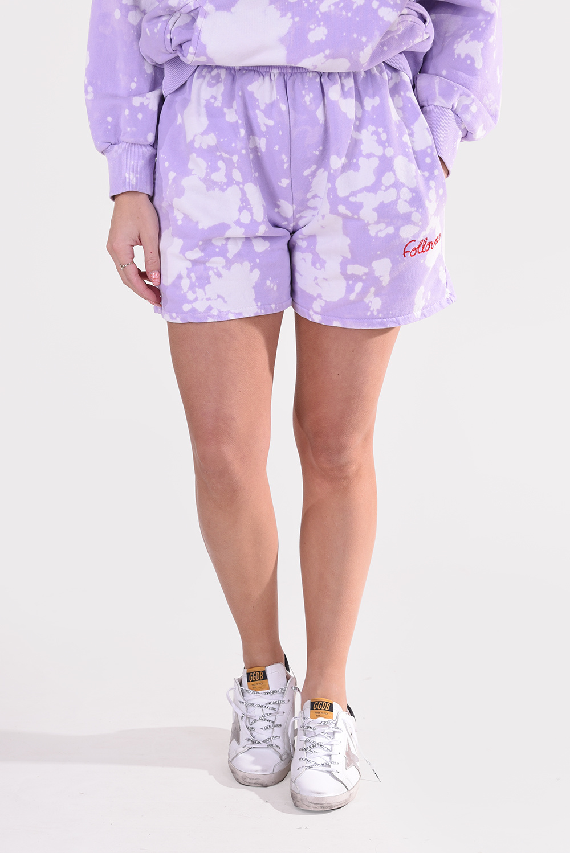 Follovers short Kendall Tie Dye paars