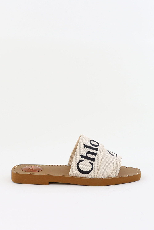 Chloe slippers Woody CHC19U18808 wit