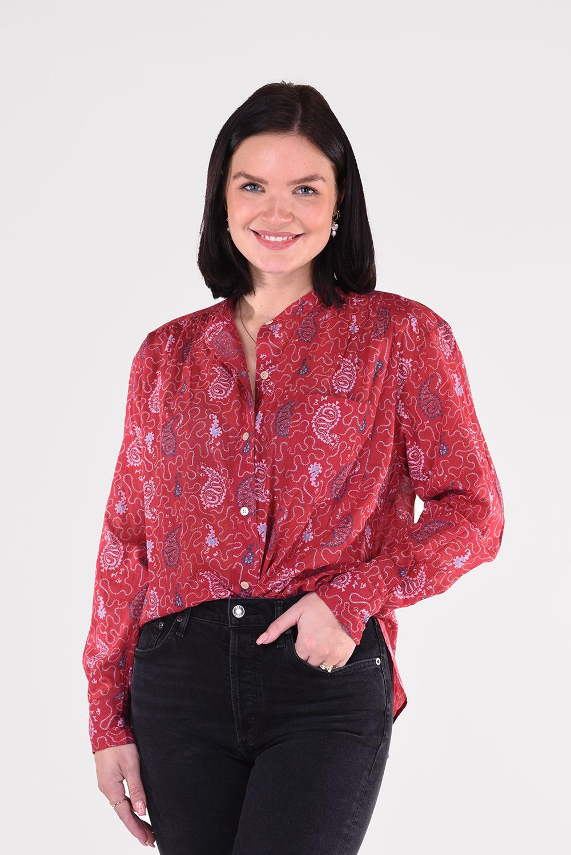 Isabel Marant blouse Mexika CH0238-21P031E rood