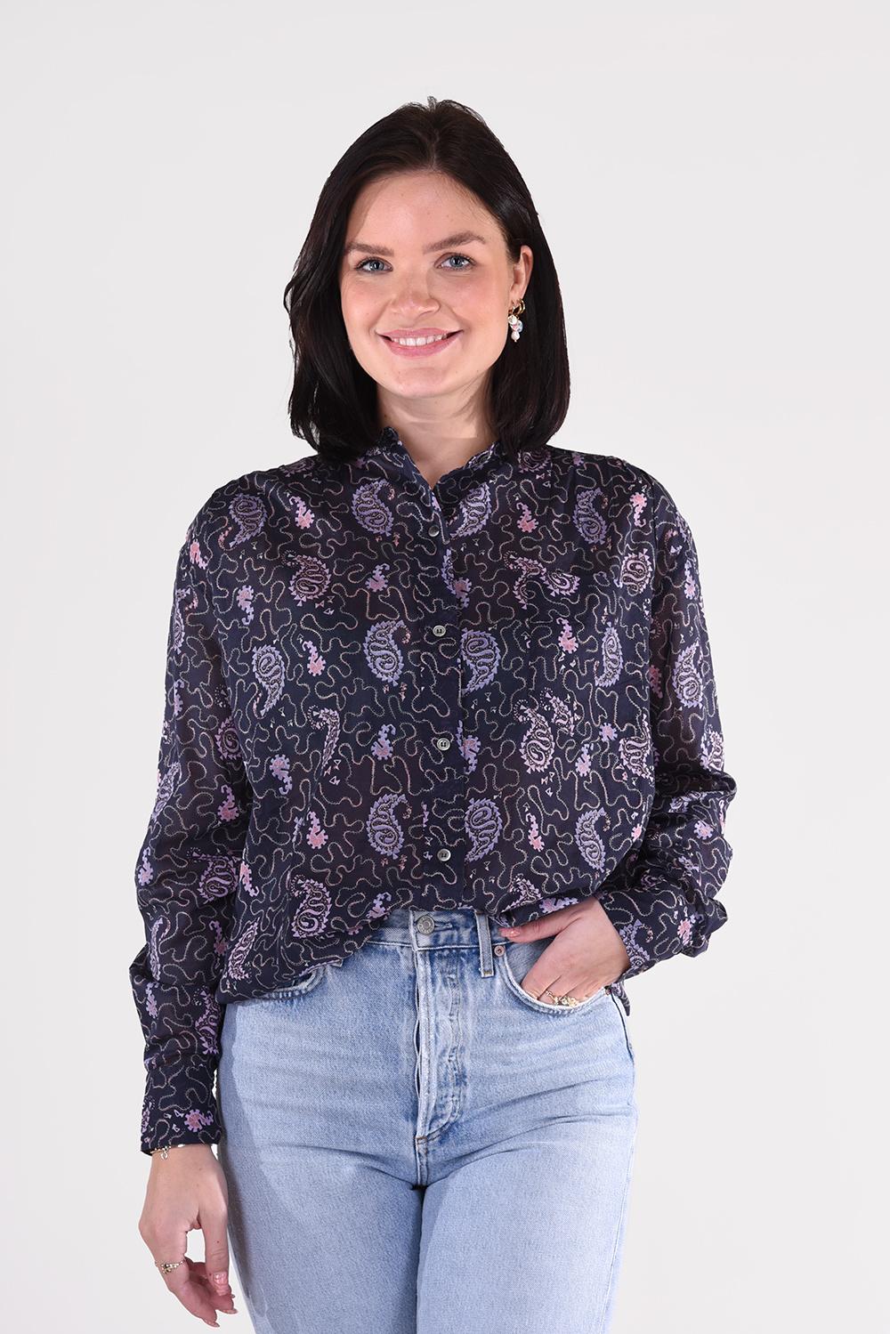 Isabel Marant blouse Mexika CH0238 21P031E blauw