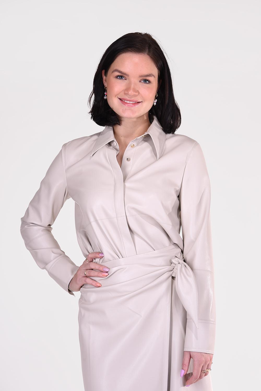 Nanushka blouse Naum NW21CRSH02271 crème