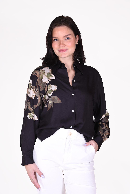 Vince blouse V719212433 zwart