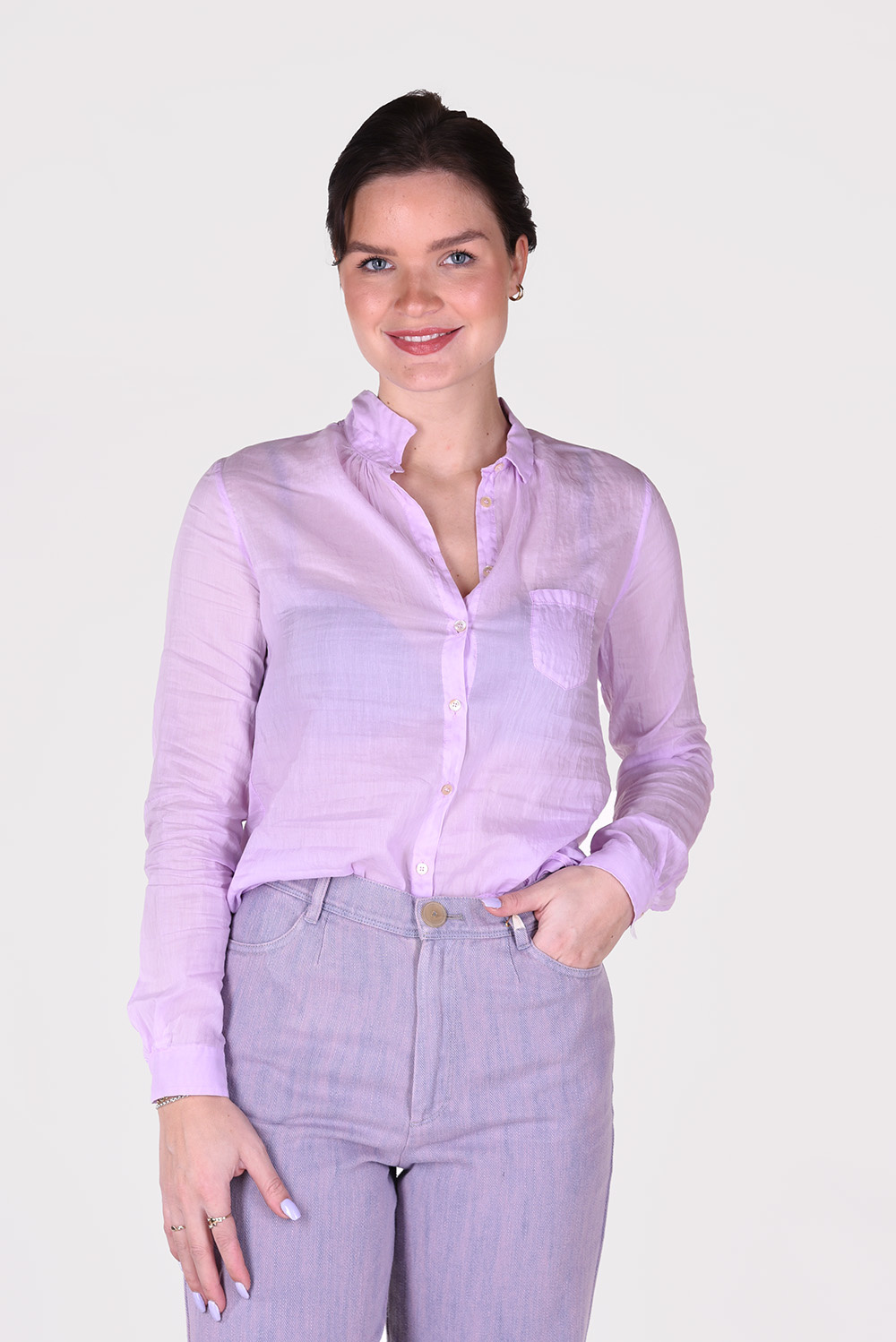 Forte_Forte blouse 8075 paars
